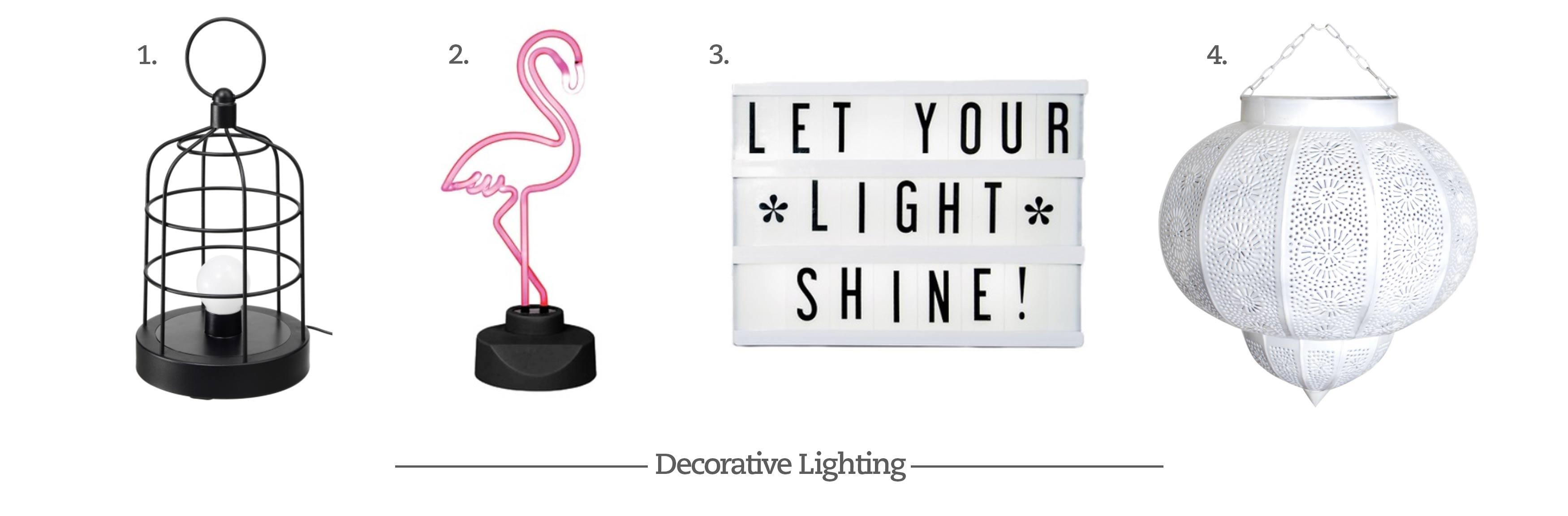 Decorative Lighting Options