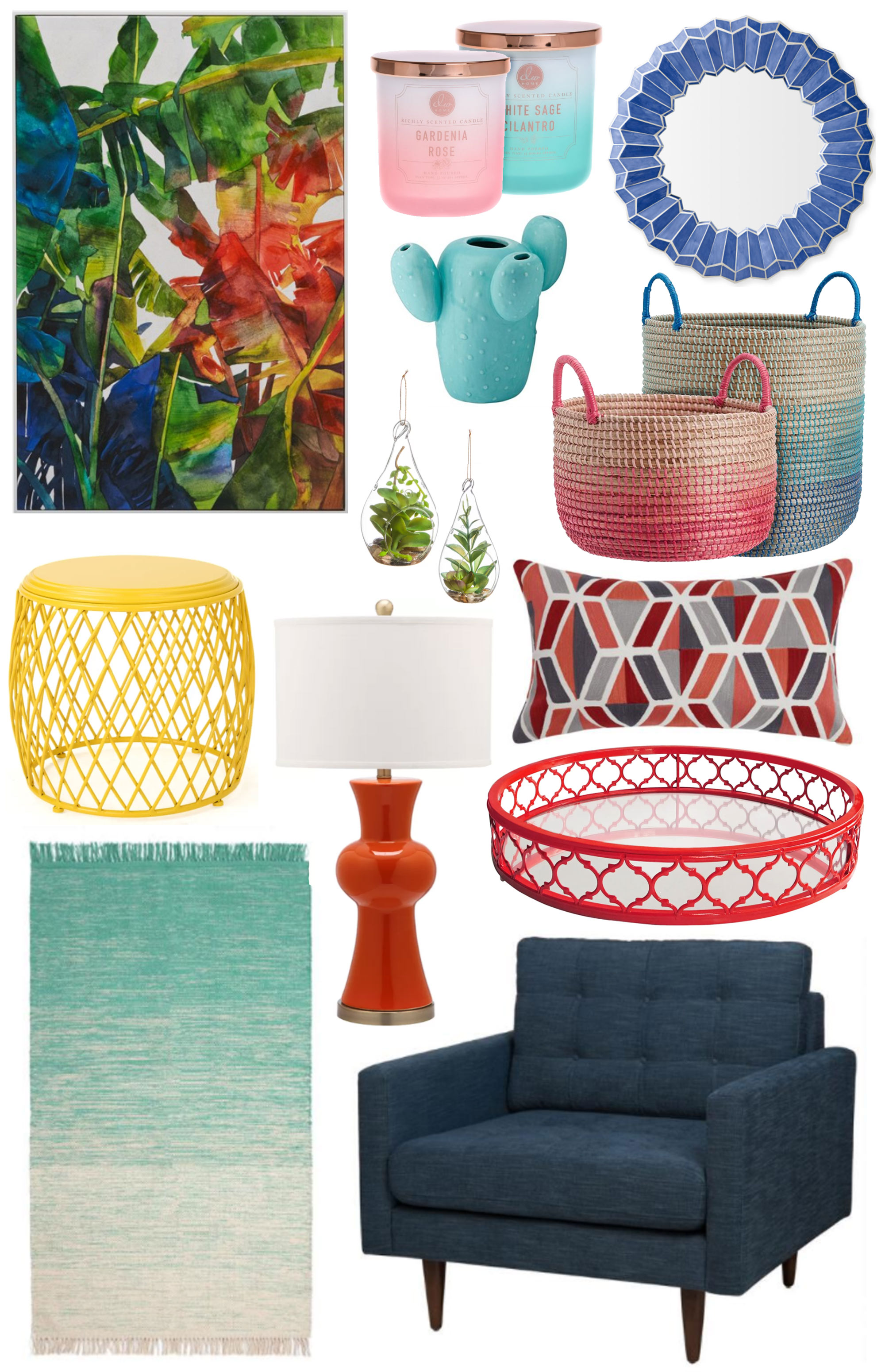 Pops of Colour in Home Decor