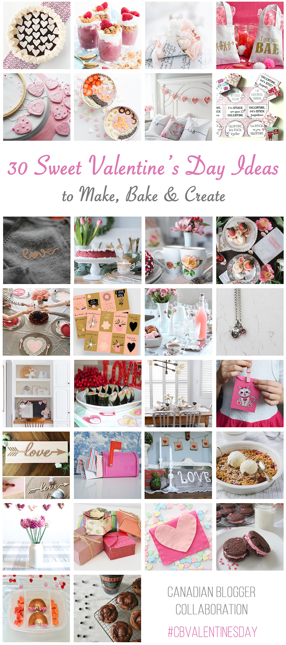 30 Sweet Valentine's Day Ideas to Make, Bake & Craft