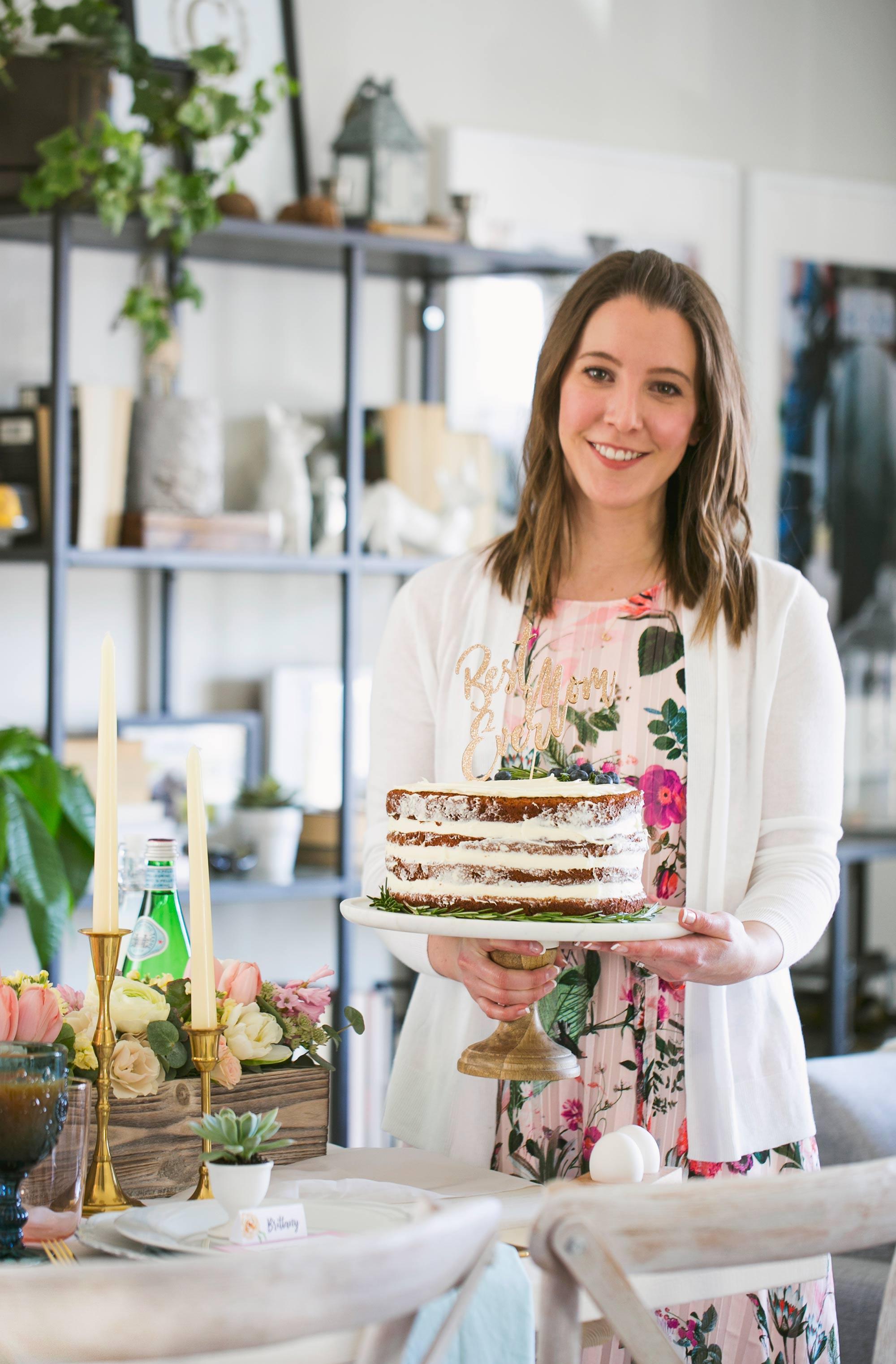 Mother's Day Brunch Dessert - Naked Carrot Cake