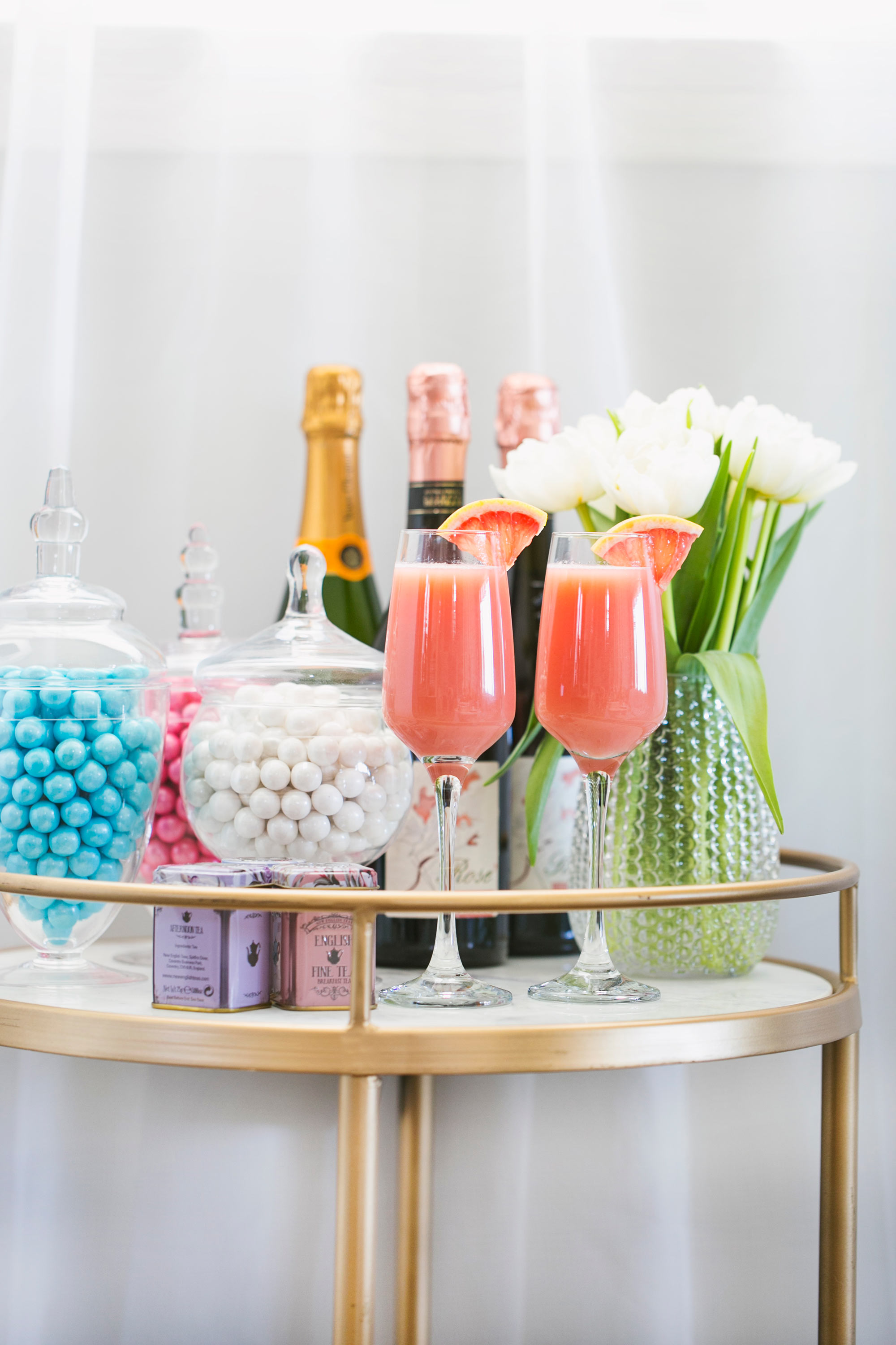 Mother's Day Bar Cart Decor