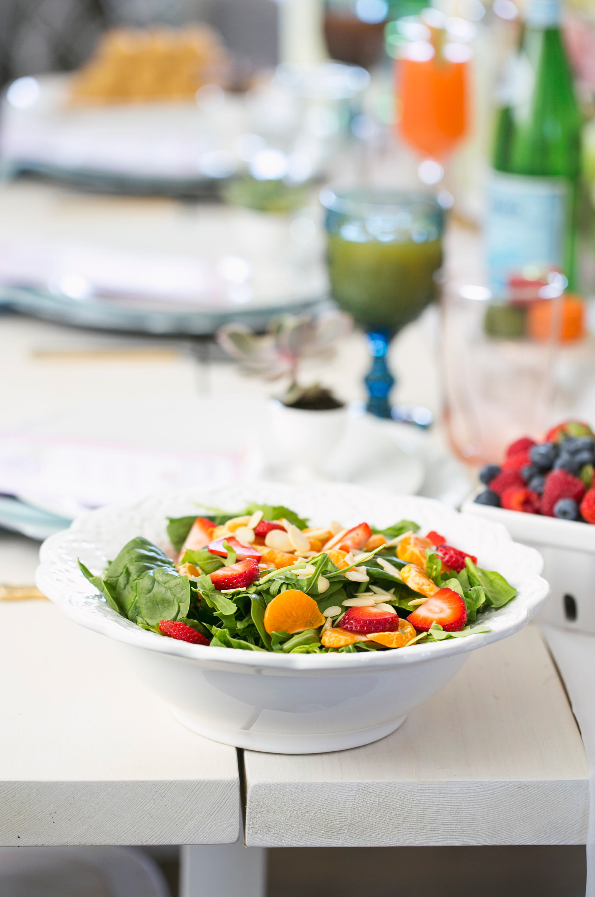 Fresh Spinach Salad for Mother's Day Brunch
