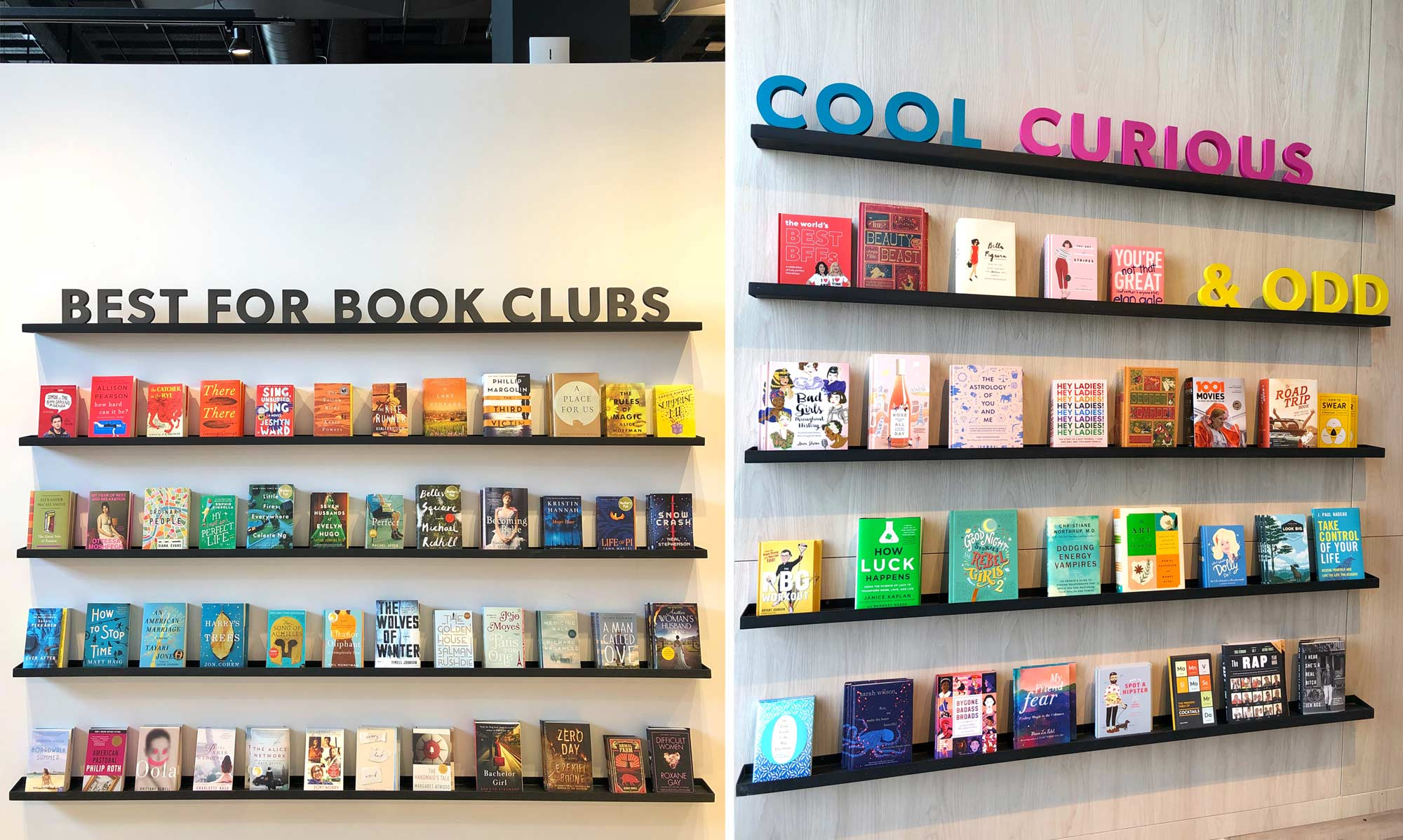 Feature Book Walls at Kitchener Indigo