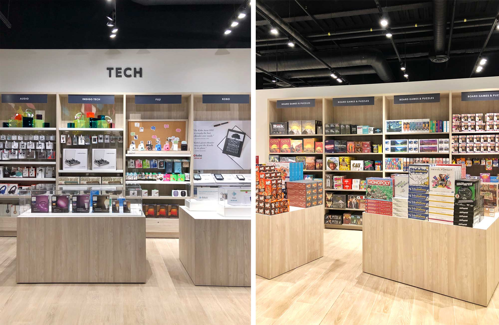The Tech and Games Section at the New Kitchener Indigo Store