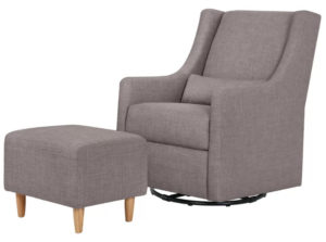 Toco Swivel Glider and Ottoman by Babyletto