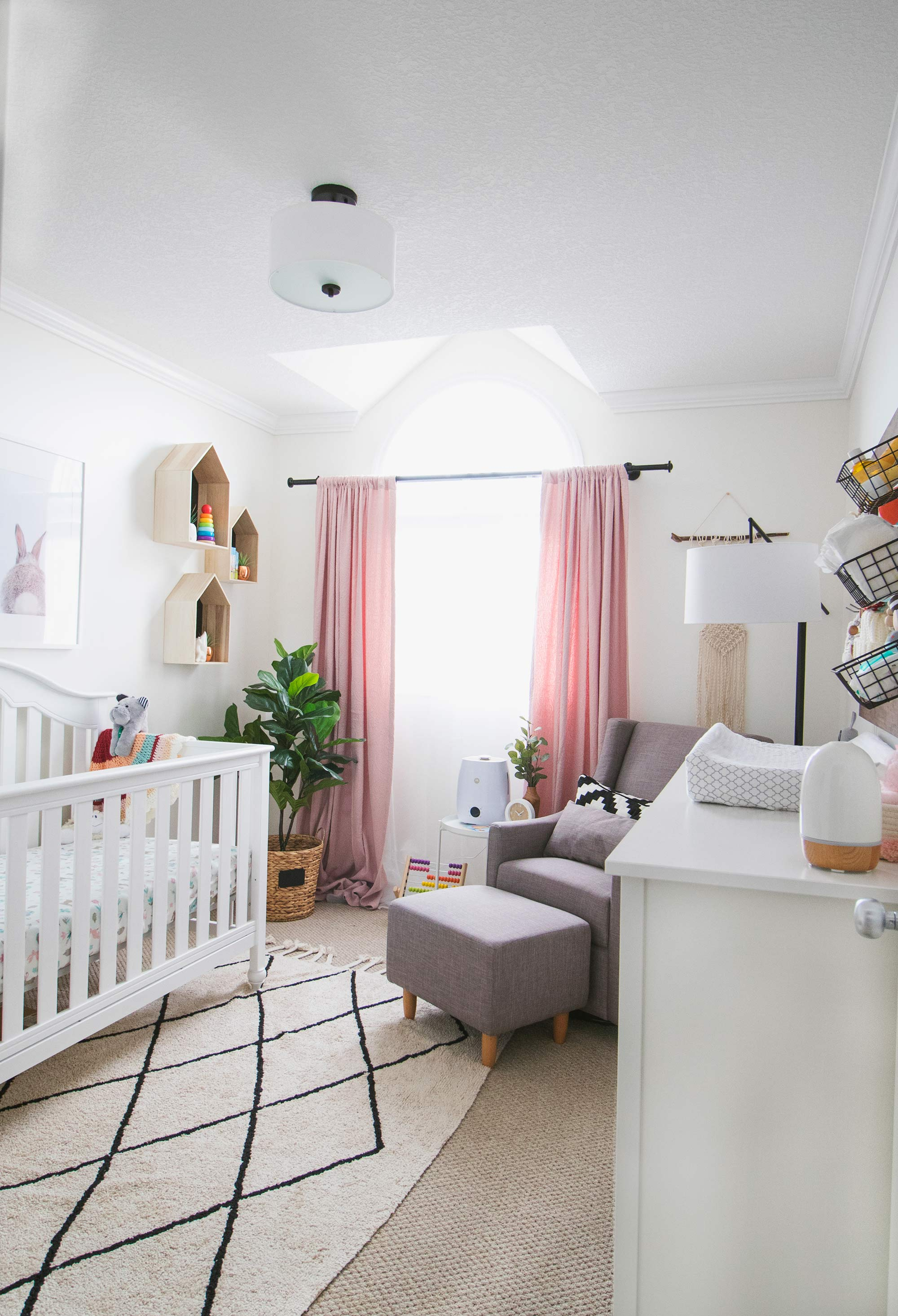 Baby Room Drawing: Baby Girl Nursery Reveal • Brittany Stager