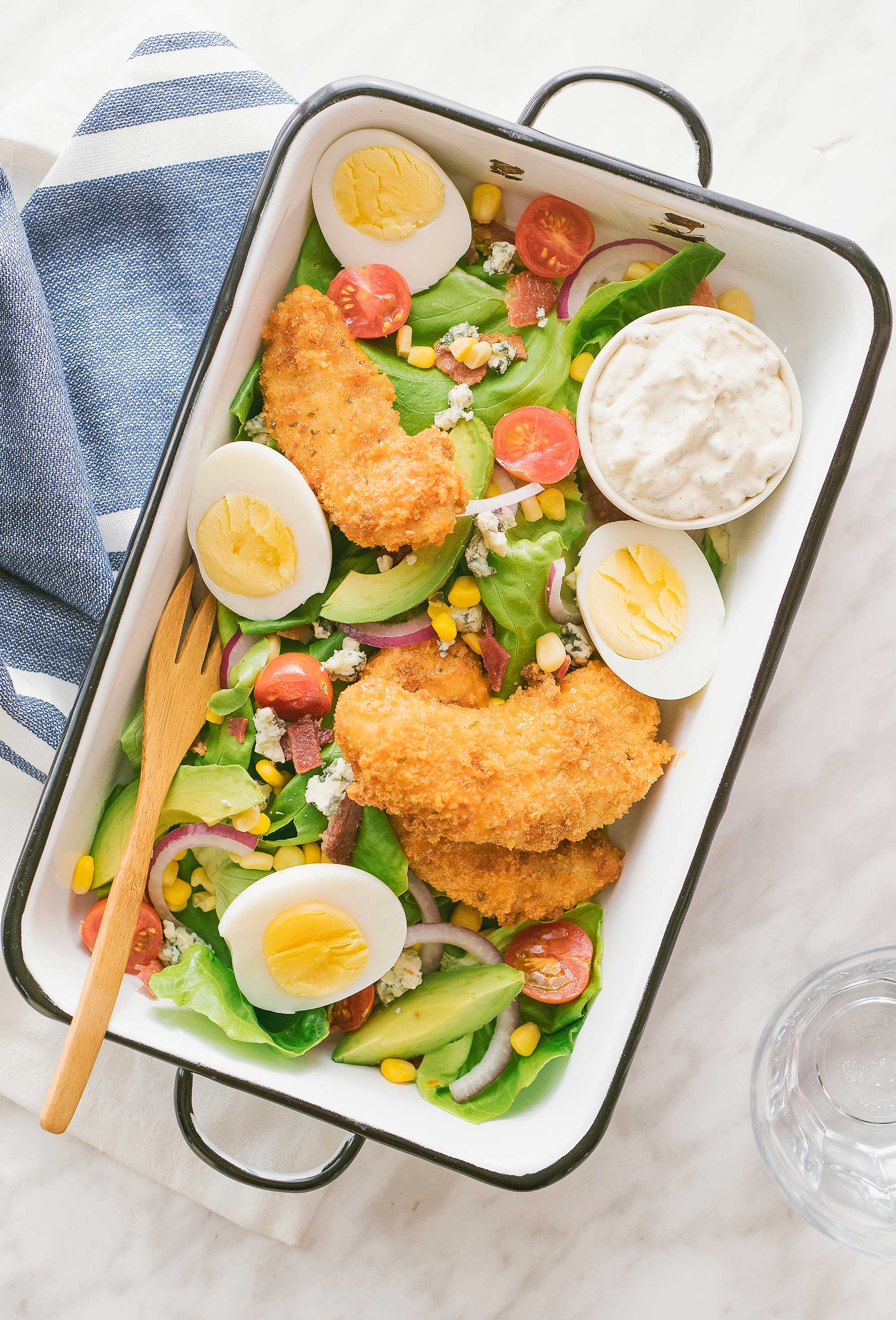 Crispy Buffalo Chicken Cobb Salad