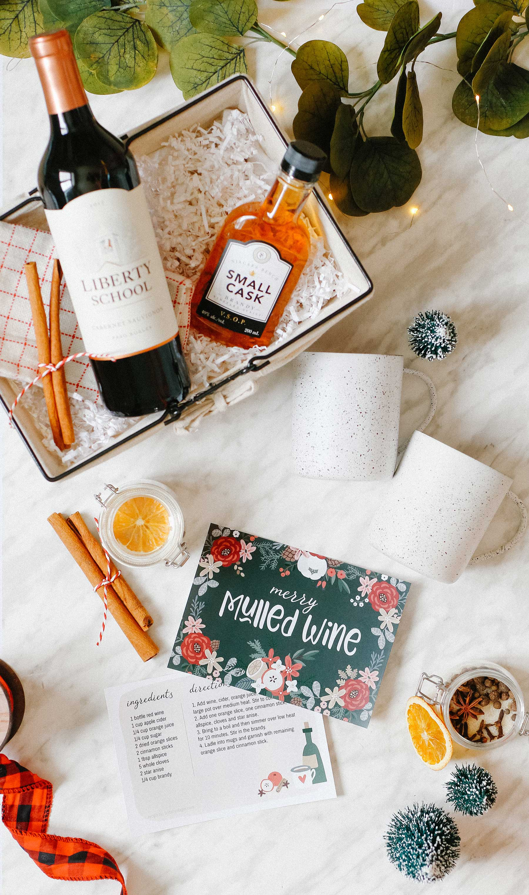 Mulled Wine Gift Basket for Hostess