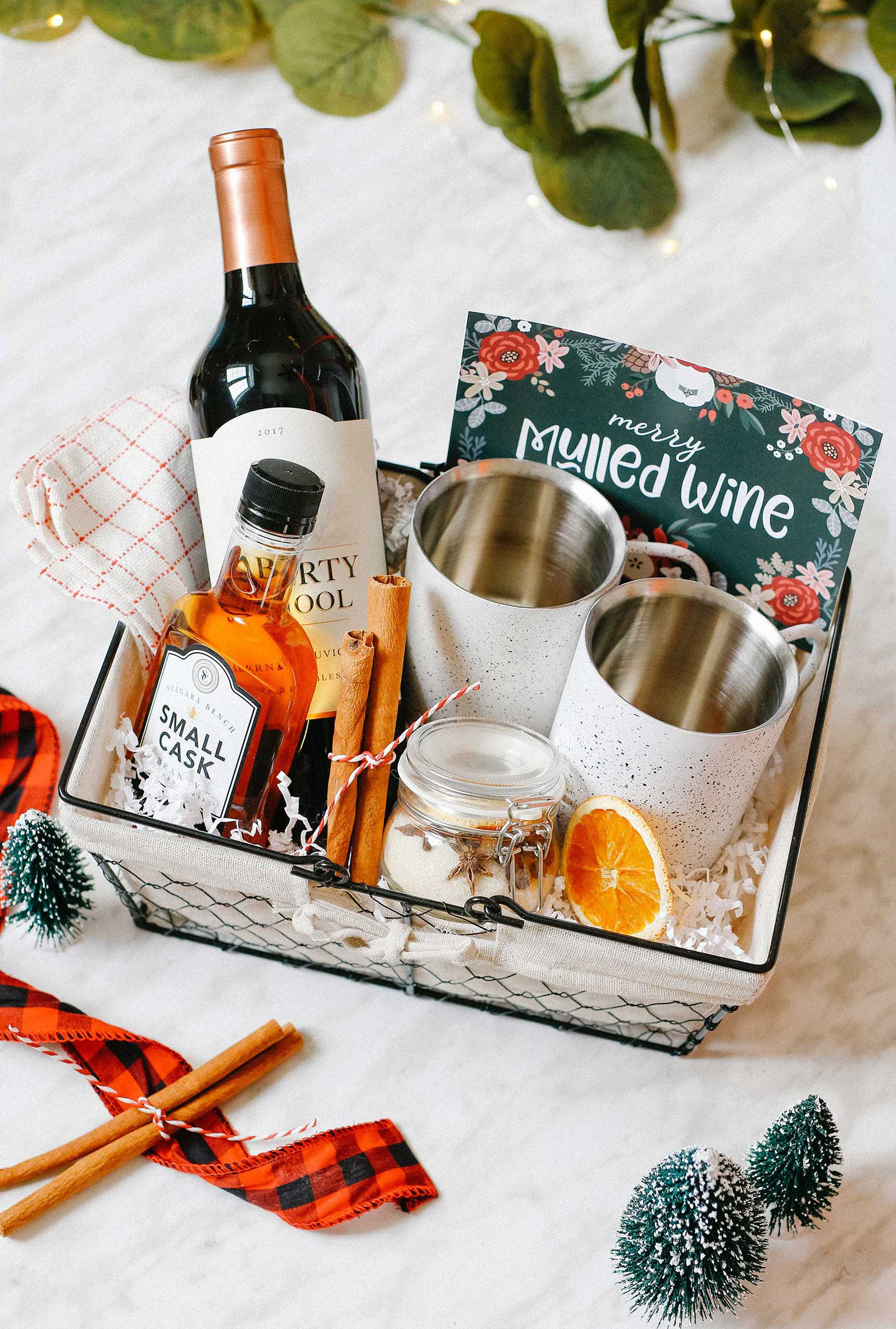 Merry Mulled Wine Hostess Gift Basket DIY