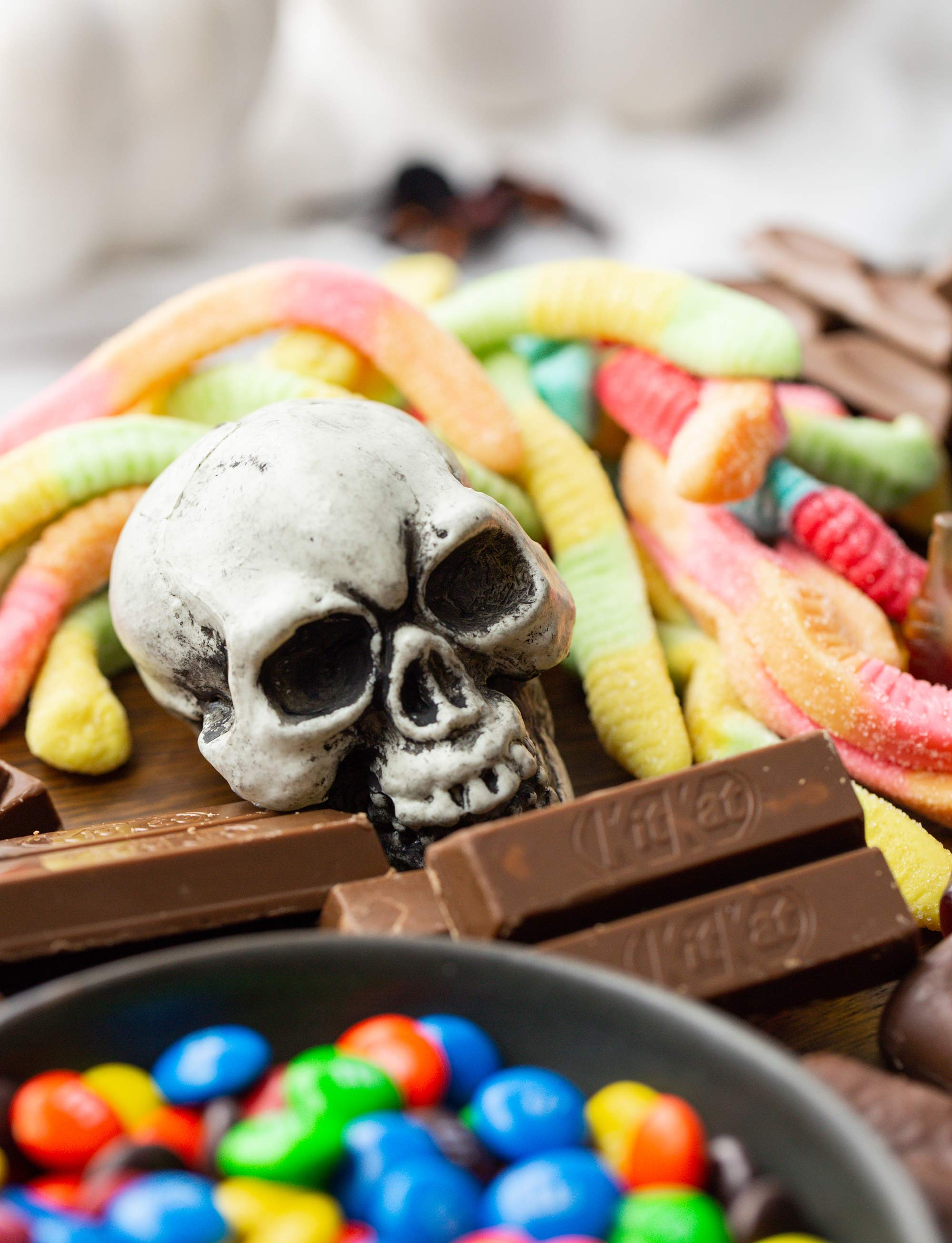 Halloween Candy Board with Skull