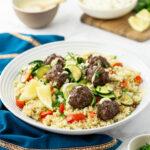 Lebanese Beef & Feta Meatballs