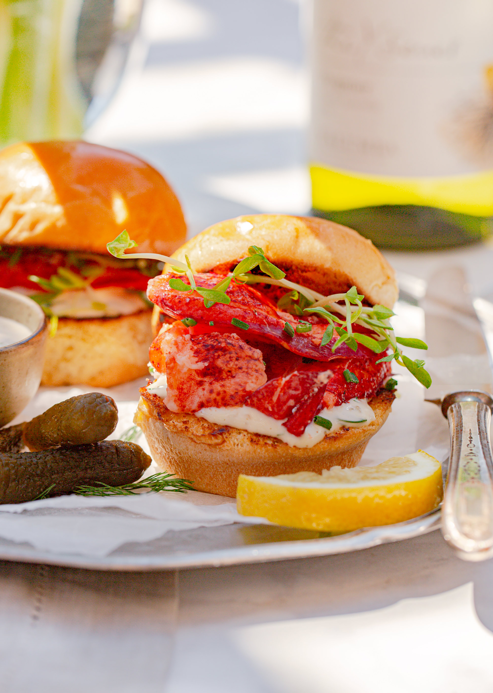 Lobster Sliders with Y Series Viognier Béarnaise Mayonnaise