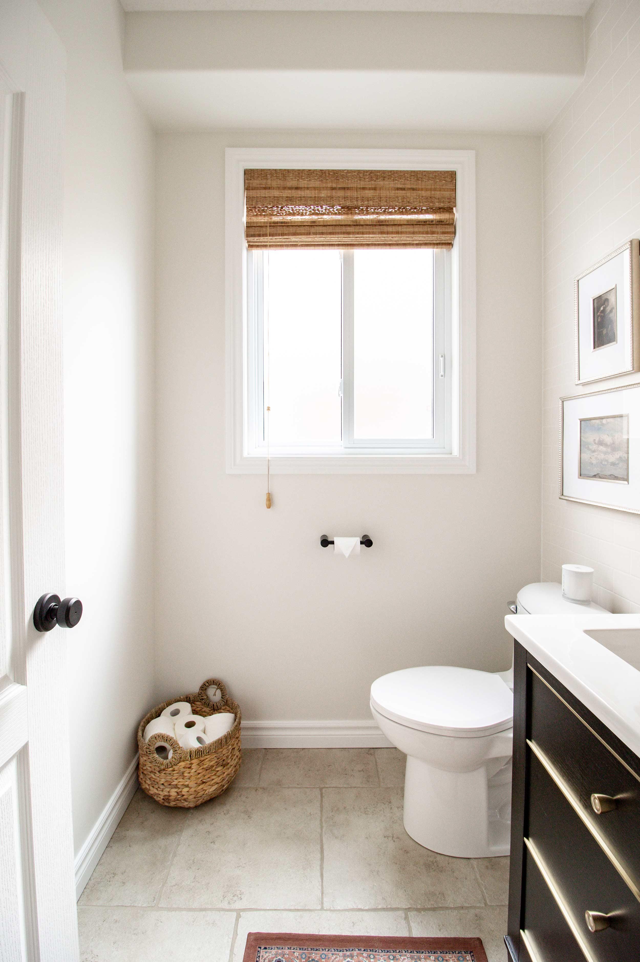 Simple Modern Farmhouse Powder Room Makeover